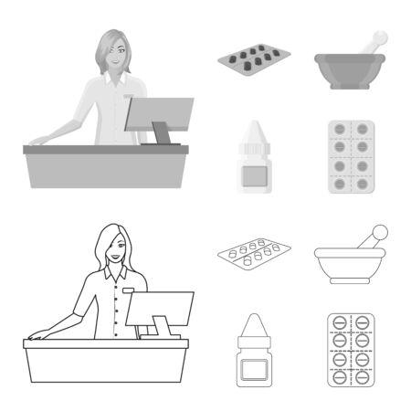 bitmap illustration of retail and healthcare symbol. Collection of retail and wellness bitmap icon for stock. Reklamní fotografie