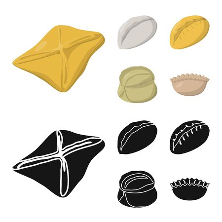 bitmap illustration of products and cooking sign. Collection of products and appetizer bitmap icon for stock.