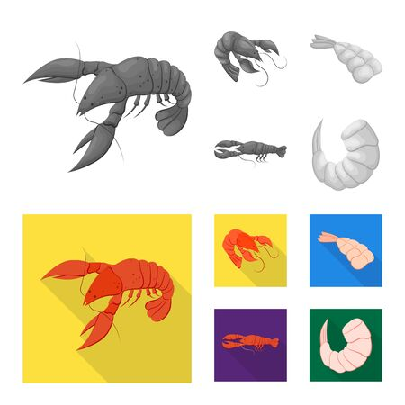 bitmap design of appetizer and ocean icon. Collection of appetizer and delicacy stock bitmap illustration. 写真素材