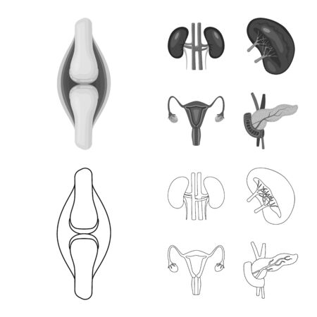 Isolated object of biology and scientific sign. Collection of biology and laboratory bitmap icon for stock.
