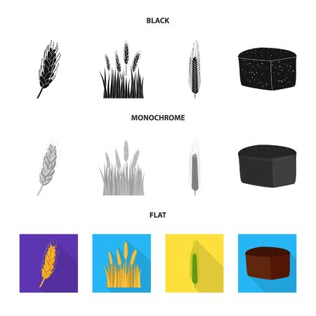 bitmap illustration of agriculture and farming sign. Collection of agriculture and plant stock symbol for web.