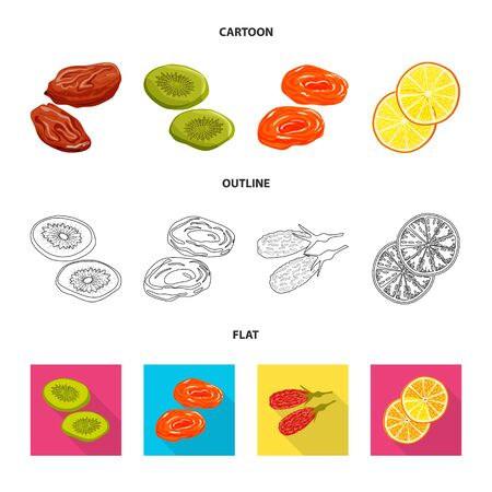 bitmap design of food and raw sign. Collection of food and nature stock symbol for web.