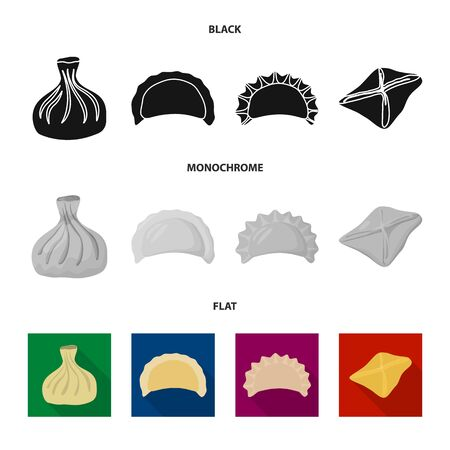 bitmap illustration of products and cooking icon. Collection of products and appetizer stock bitmap illustration. Stock Photo