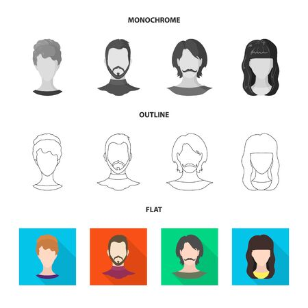 Isolated object of professional and photo icon. Set of professional and profile stock bitmap illustration. Imagens