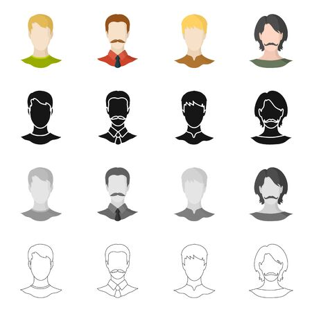 bitmap design of professional and photo icon. Collection of professional and profile stock bitmap illustration.