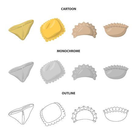 bitmap design of products and cooking icon. Collection of products and appetizer bitmap icon for stock. Stock Photo