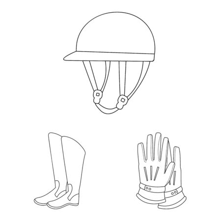 Vector illustration of horseback and equestrian sign. Set of horseback and horse stock vector illustration. Illustration