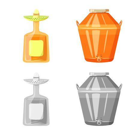 Vector illustration of drink. Set of drink for web.