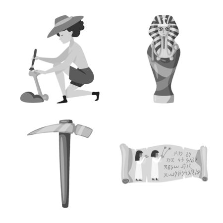 Isolated object of story and discovery sign. Set of story and items vector icon for stock.