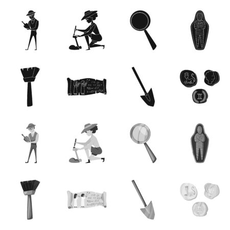 Vector illustration of story and items . Collection of story and attributes stock symbol for web.