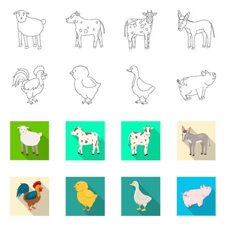 Vector illustration of breeding and kitchen symbol. Set of breeding and organic stock symbol for web. Illustration