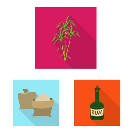 Isolated object of plant and plantation symbol. Set of plant and agriculture vector icon for stock.