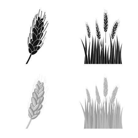 Vector illustration of agriculture and farming icon. Set of agriculture and plant stock symbol for web.