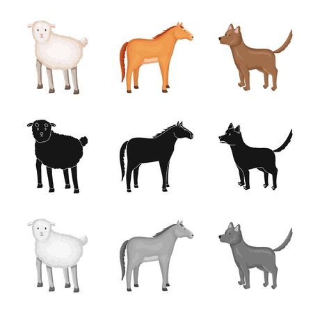 Vector design of breeding. Set of breeding and organic vector icon for stock. Illustration