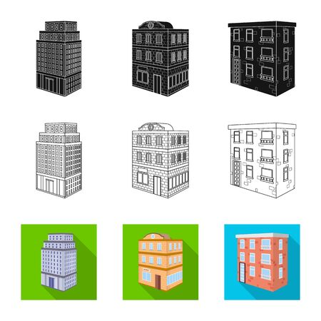 Vector illustration of construction and building symbol. Set of construction and estate stock symbol for web.