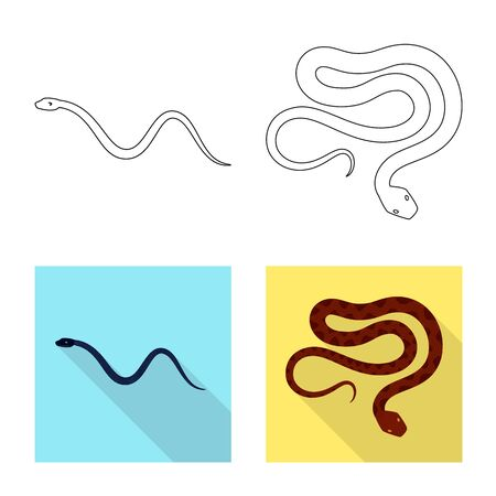 Isolated object of mammal and danger sign. Set of mammal and medicine vector icon for stock.