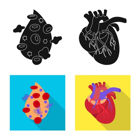 Vector illustration of biology and scientific icon. Collection of biology and laboratory vector icon for stock. Illustration