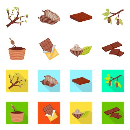 Vector illustration of food and yummy icon. Set of food and brown vector icon for stock. Foto de archivo - 128105583