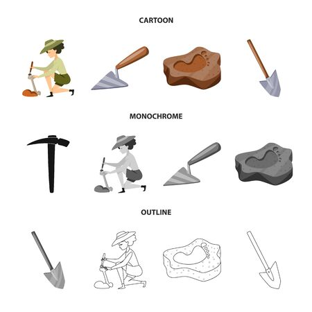 Isolated object of story and items sign. Collection of story and attributes stock symbol for web.
