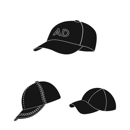 Isolated object of sports and baseball icon. Collection of sports and sun bitmap icon for stock.