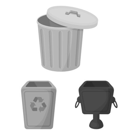 Isolated object of urn and icon. Set of urn and stock bitmap illustration.