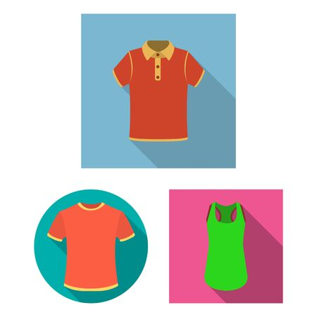 bitmap illustration of clothes and wear sign. Set of clothes and short stock bitmap illustration.
