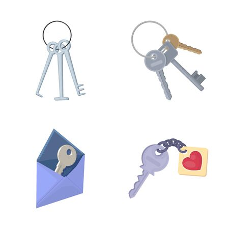bitmap design of key and protection. Collection of key and security bitmap icon for stock.