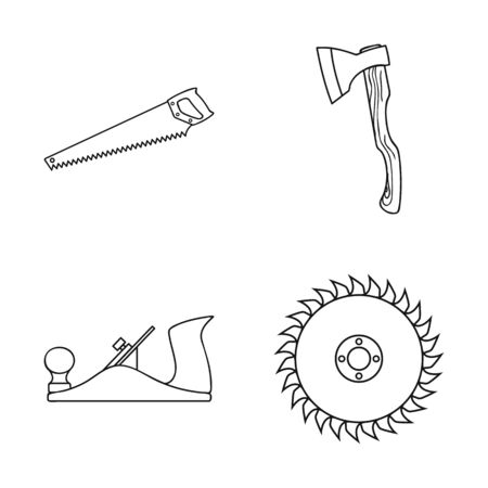 bitmap illustration of tool and construction. Set of tool and carpentry stock bitmap illustration.