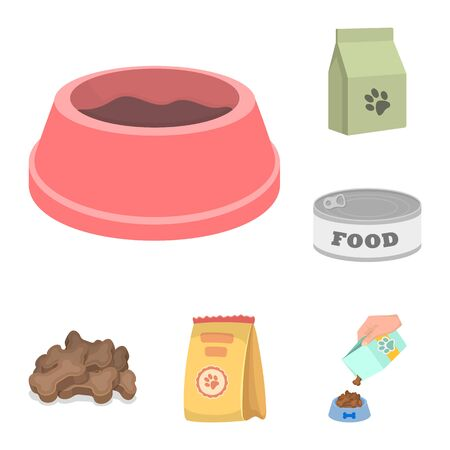 bitmap design of food and tin symbol. Collection of food and bottle stock bitmap illustration.