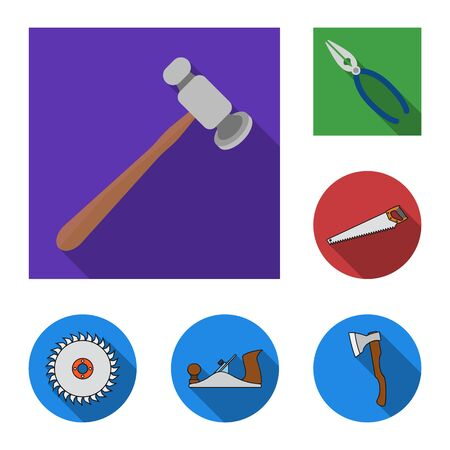 bitmap design of tool and construction symbol. Set of tool and carpentry stock symbol for web.