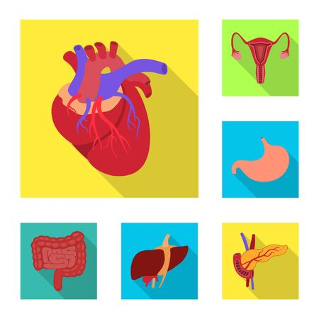 Isolated object of human and health icon. Collection of human and scientific bitmap icon for stock.