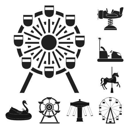 bitmap design of fun and horse. Set of fun and circus stock symbol for web.
