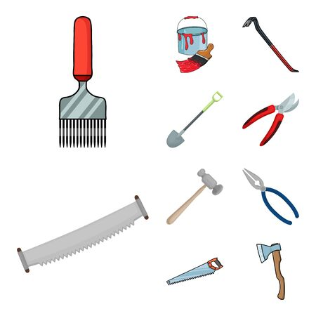 bitmap design of tool and construction. Set of tool and carpentry bitmap icon for stock. Zdjęcie Seryjne