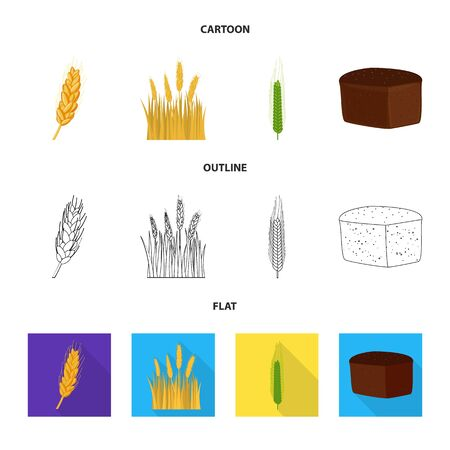 bitmap illustration of agriculture and farming icon. Set of agriculture and plant bitmap icon for stock. 스톡 콘텐츠