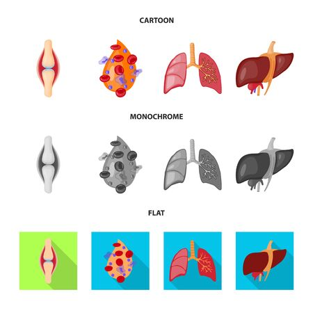Isolated object of biology and scientific icon. Collection of biology and laboratory bitmap icon for stock. Stock Photo