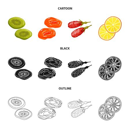 bitmap illustration of food and raw. Collection of food and nature stock bitmap illustration.