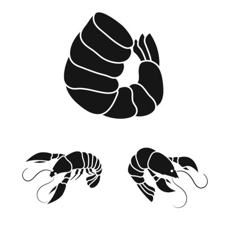 Vector design of meat and delicacy icon. Collection of meat and crab vector icon for stock.