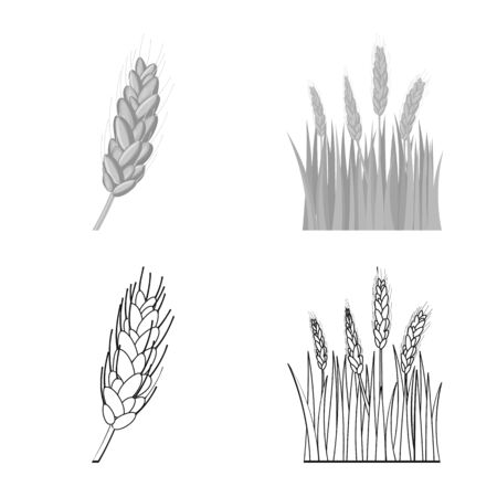Vector illustration of agriculture and farming icon. Set of agriculture and plant vector icon for stock.