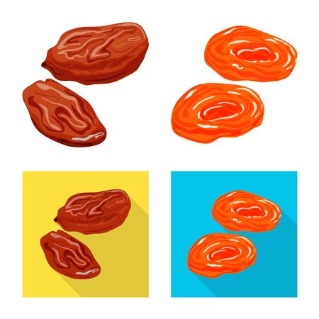 Vector illustration of food and raw icon. Collection of food and nature vector icon for stock. Ilustração