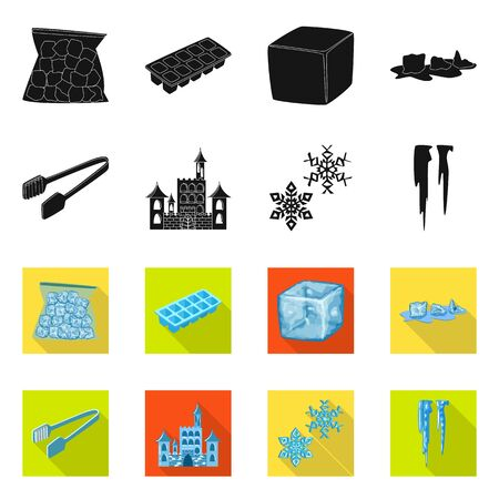 Isolated object of texture and frozen. Collection of texture and transparent stock symbol for web. Illustration