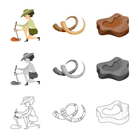 Vector design of story and items sign. Set of story and attributes vector icon for stock. Vectores