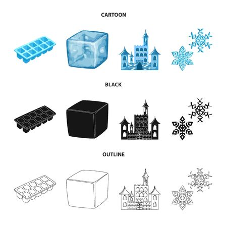 Isolated object of texture and frozen icon. Collection of texture and transparent stock symbol for web.