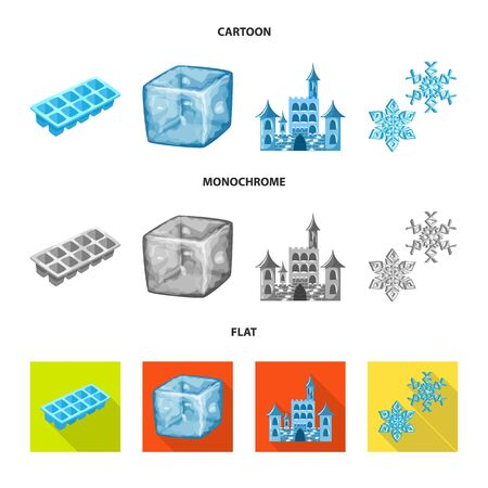 Vector design of texture and frozen icon. Collection of texture and transparent stock vector illustration. Illustration