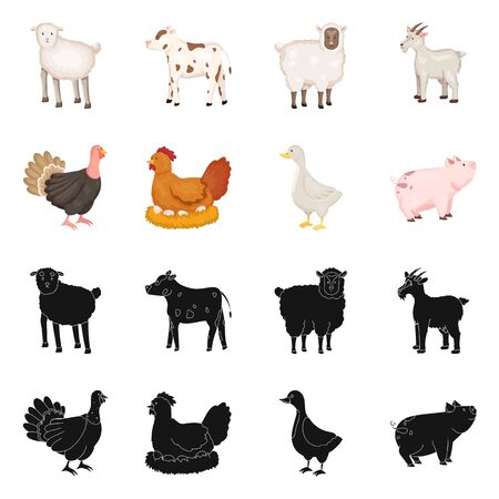Vector design of breeding and kitchen sign. Collection of breeding and organic vector icon for stock.