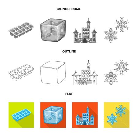 Vector illustration of texture and frozen. Collection of texture and transparent vector icon for stock.
