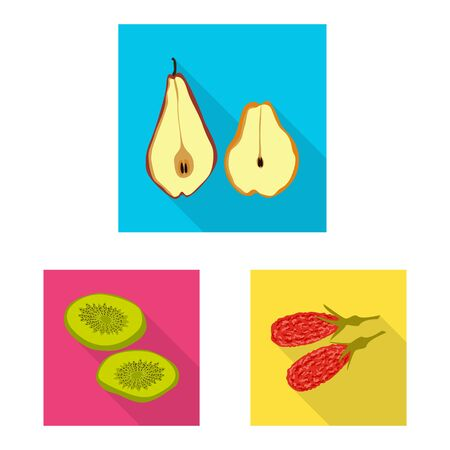 Isolated object of fruit and dried. Collection of fruit and food  stock symbol for web.