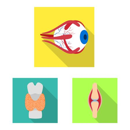 Vector design of human and health. Collection of human and scientific stock vector illustration.