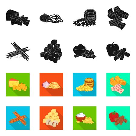 Isolated object of taste and seasoning icon. Collection of taste and organic vector icon for stock.