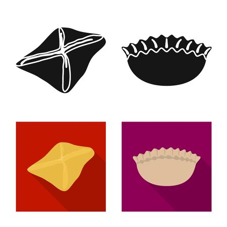 Isolated object of products and cooking icon. Collection of products and appetizer vector icon for stock. Reklamní fotografie - 128412028