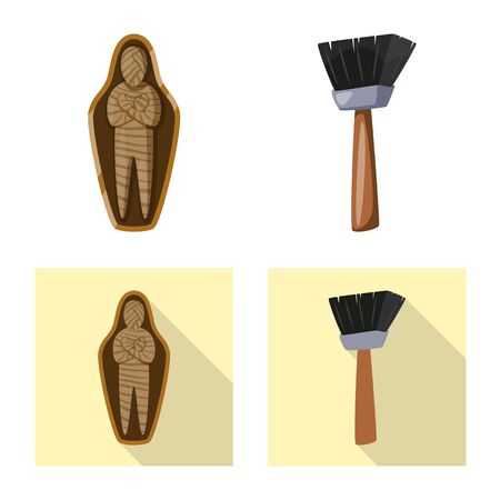 Isolated object of story and items icon. Collection of story and attributes vector icon for stock. Ilustração
